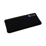 Силиконовый чехол Xiaomi Redmi Note 7 Pro однотонный с ребристыми краями, черный