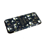 Задняя крышка Huawei Honor 9 Lite  пластик с цветочным принтом, белые мелкие цветочкина черном