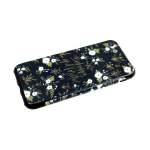 Задняя крышка Samsung Galaxy A30 пластик с цветочным принтом, белые мелкие цветочкина черном