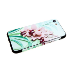 Чехол для Samsung Galaxy A30 пластик с цветочным принтом, розовые цветочки на салатовом