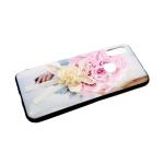 Задняя крышка Samsung Galaxy A10 пластик, тактильные цветы, бантик