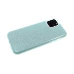 Силиконовый чехол Samsung Galaxy A10  плотный с блестками, вырез для лого, зелёный