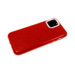Силиконовый чехол Samsung Galaxy A10  плотный с блестками, красный
