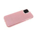 Силиконовый чехол Xiaomi Redmi 7 плотный с блестками, розовый
