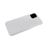 Силиконовый чехол Xiaomi Redmi 7 плотный с блестками, серебро