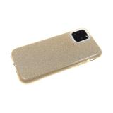 Силиконовый чехол Xiaomi Redmi 7 плотный с блестками, золото