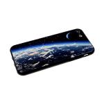 Задняя крышка Samsung Galaxy A30 рисунки на черном пластике, облака