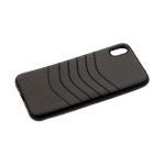 Силиконовый чехол Iphone XR 6.1 тканевый с изогнутыми линиями, серый