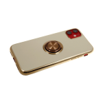 Силиконовый чехол Xiaomi Redmi 7 блестящий борт с блестящим кольцом, бежевый