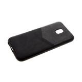 Силиконовый чехол Samsung J250 Galaxy J2 2018 комбинированная эко-кожа, черный