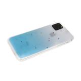 Задняя крышка Xiaomi Redmi 8 прозрачная с переходом, блестки-звездочки, голубая