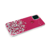 Задняя крышка Xiaomi Redmi 8 ярко-прозрачная с блестками, ярко-розовая