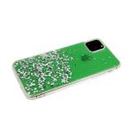 Задняя крышка Xiaomi Redmi 8 ярко-прозрачная с блестками, зеленая