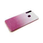Силиконовый чехол Huawei Honor 10i 3D сердечки с блестками, розовый