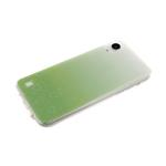 Силиконовый чехол Huawei Honor 8X 3D сердечки с блестками, салатовый
