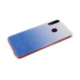 Силиконовый чехол Huawei Honor 8X 3D сердечки с блестками, синий