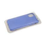 Силиконовый чехол Samsung Galaxy A20s бархат внутри без логотипа, в блистере, голубой