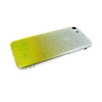 Силиконовый чехол Samsung Galaxy A20s блестки с переходом, желтый