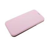 Чехол-книга Huawei Honor 8X Soft touch c силиконовым основанием, розовая