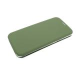 Чехол-книга Huawei Honor 8X Soft touch c силиконовым основанием, темно-зеленая