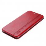 Чехол-книжка FaisON для SAMSUNG Galaxy A20/A30, PREMIUM Line, экокожа, на магните, красный