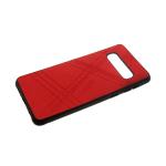 Силиконовый чехол Huawei Honor 8X эко-кожа REMAX с полосками, красный
