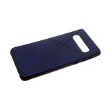 Силиконовый чехол Huawei Honor 8X эко-кожа REMAX с полосками, темно-синий