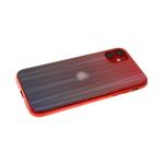 Задняя крышка Xiaomi Mi9 Lite хамелеон с перламутром, красно-черная