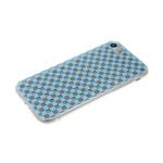 Задняя крышка Xiaomi Redmi 7 клетка с блестками, голубая