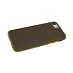 Задняя крышка Xiaomi Redmi Note 9 матово-прозрачная с силиконовым бортом, темно-зеленая