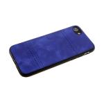 Силиконовый чехол Xiaomi Redmi 7 мягкая эко-кожа с ромбами между полосок, темно-синий