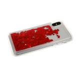 Силиконовый чехол Xiaomi Redmi 8a плавающие сердечки, красные
