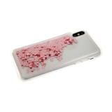 Силиконовый чехол Xiaomi Redmi 8a плавающие сердечки, розовые
