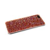 Силиконовый чехол Samsung Galaxy A30s поверхность из страз, прозарчный борт, красный