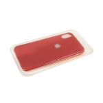 Силиконовый чехол Huawei Y5 2019 Soft touch с серебристым лого, в блистере, красный