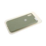 Силиконовый чехол Iphone 11 Pro Max Soft touch c лого, в блистере, оливковый