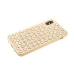 Силиконовый чехол Iphone 11 Pro утолщенный с крупными стразами, пудра