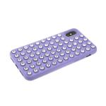 Силиконовый чехол Iphone 11 Pro утолщенный с крупными стразами, сиреневый