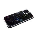 Задняя крышка Xiaomi Redmi 7a яркие трещины, белая окантовка, черная