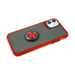 Задняя крышка Samsung Galaxy A50 3D Camera матово-прозрачная, с кольцом, красная