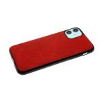 Силиконовый чехол Huawei Y5 2018 эко-кожа с мелкими прорезями, красный