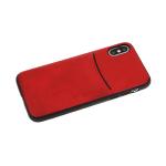 Силиконовый чехол Xiaomi Redmi 7 Monarch, кожанный с кармашком, красный