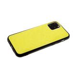 Задняя крышка Xiaomi Redmi Note 8T однотонное битое стекло без лого, желтая