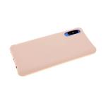 Силиконовый чехол Samsung Galaxy A10s однотонный с ребристыми краями, розовый