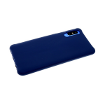 Силиконовый чехол Samsung Galaxy A10s однотонный с ребристыми краями, темно-синий
