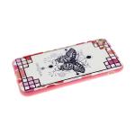 Задняя крышка Huawei Honor 10i пластик с розовым бортом, бабочка