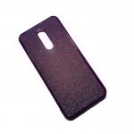 Силиконовый чехол Huawei Y6 2018 поверхность из мелких бусинок, фиолетовый