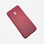 Силиконовый чехол Xiaomi Redmi 8a поверхность из мелких бусинок, красный
