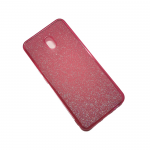 Силиконовый чехол Xiaomi Redmi 8a поверхность из мелких бусинок, розовый