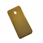 Силиконовый чехол Xiaomi Redmi 8a поверхность из мелких бусинок, желтый